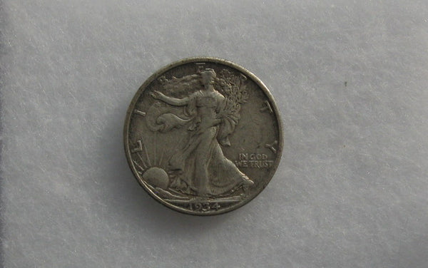 1934 Walking Liberty Half Dollar VF-20 - Of Coins & Crystals