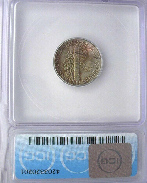 1938 Mercury Dime MS-66+FB - Of Coins & Crystals