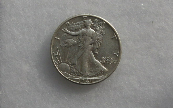1941D Walking Liberty Half Dollar XF-40 - Of Coins & Crystals