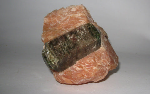 Apatite in Calcite Matrix - Yates Mine, Otter Lake, Quebec - Of Coins & Crystals