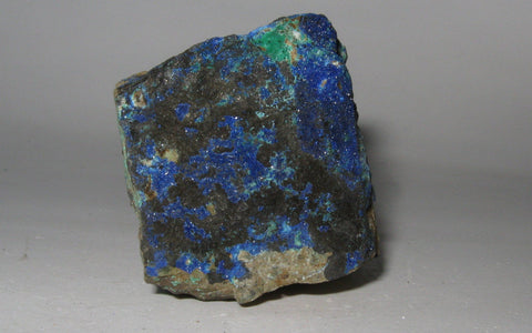 Azurite on Matrix - Of Coins & Crystals