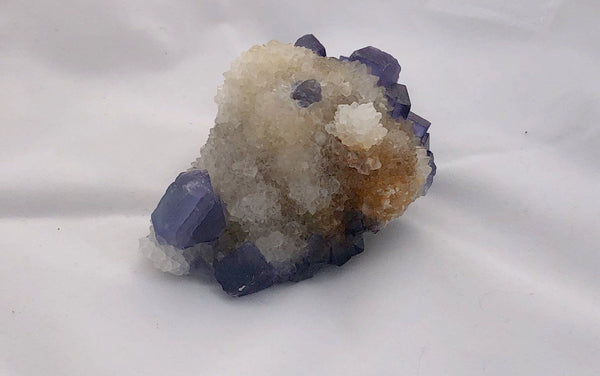 Blue Fluorite 2 - Bingham, New Mexico - Of Coins & Crystals