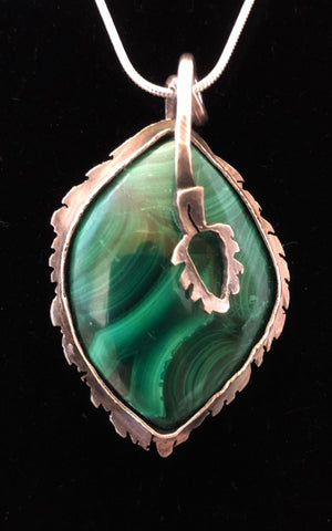 Birch - Malachite in Sterling/Fine Silver - Of Coins & Crystals