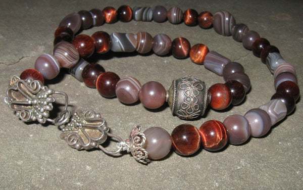 Botswana Agate & Red Tigereye - Of Coins & Crystals