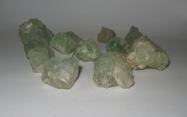 Green Fluorite Lot - Of Coins & Crystals