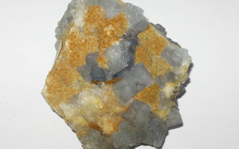 Blue Fluorite with Yellow Matrix - Of Coins & Crystals