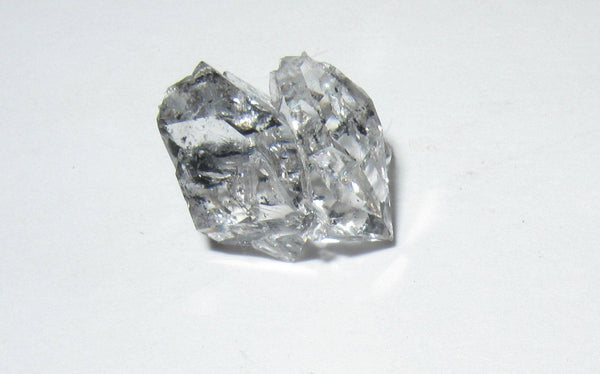 Herkimer Diamond with Anthraxolite - Of Coins & Crystals