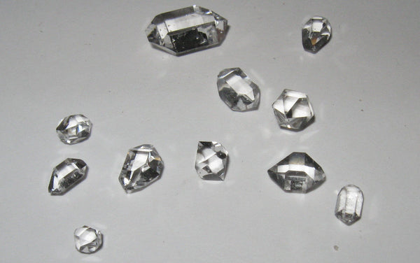 Herkimer Diamond Lot 7 AA Grade 2.8 grams - Of Coins & Crystals