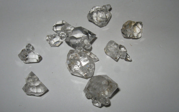 Herkimer Diamond Lot 20 - Mini Clusters - Of Coins & Crystals