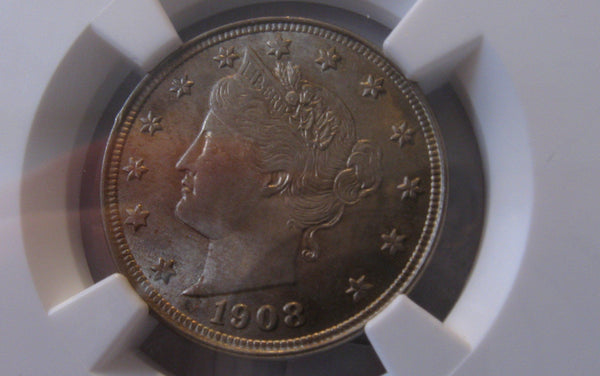 1908 V Nickel.  NGC MS-64 | Of Coins & Crystals