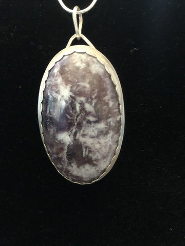 Be Still - Lepidolite in Quartz in Sterling/fine Silver - Of Coins & Crystals