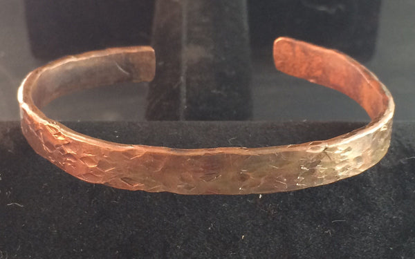 Hand Forged Copper Bracelet - Of Coins & Crystals