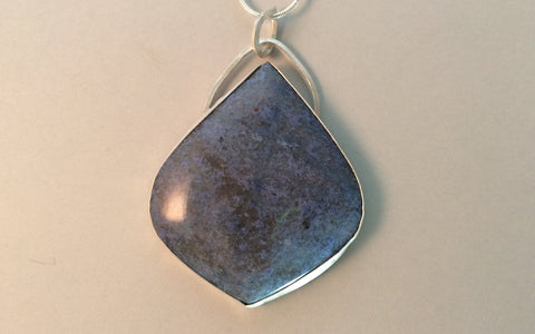 One Drop - Dumortierite in Sterling Silver | Of Coins & Crystals