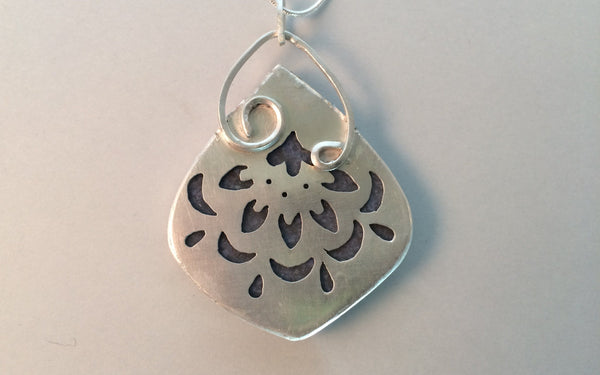 One Drop - Dumortierite in Sterling Silver - Of Coins & Crystals