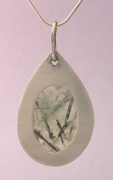 Release – Epidote in Prehnite in Sterling Silver | Of Coins & Crystals