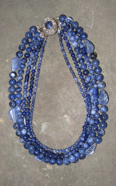 Sodalite Collar - Of Coins & Crystals