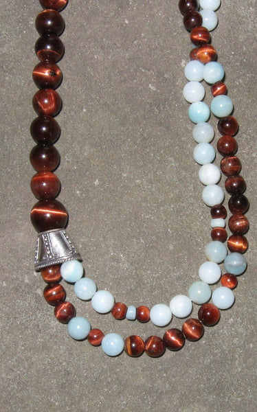 Amazonite & Red Tigereye - Of Coins & Crystals
