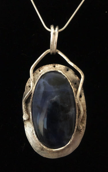 Silent Night II - Sodalite in Sterling Silver