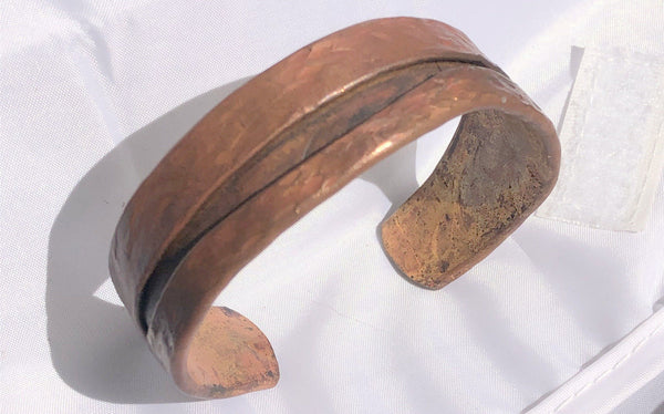 "Fold Formed  Copper Bracelet 3/4"" wide 