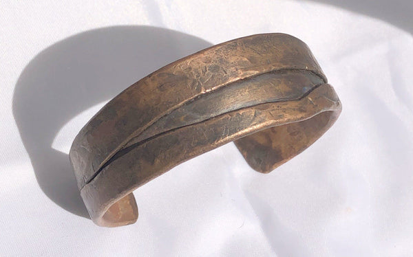 "Fold Formed  Copper Bracelet 7/8"" wide"