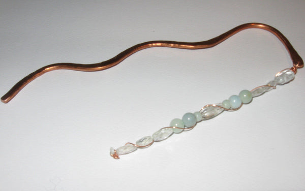 March Bookmark - Aquamarine & Amazonite - Of Coins & Crystals