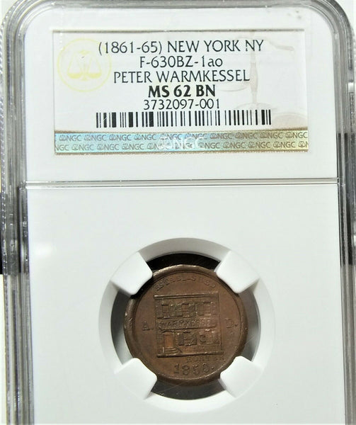 NY-630-BZ-1a0 Store Card CWT  NGC MS62 Bn