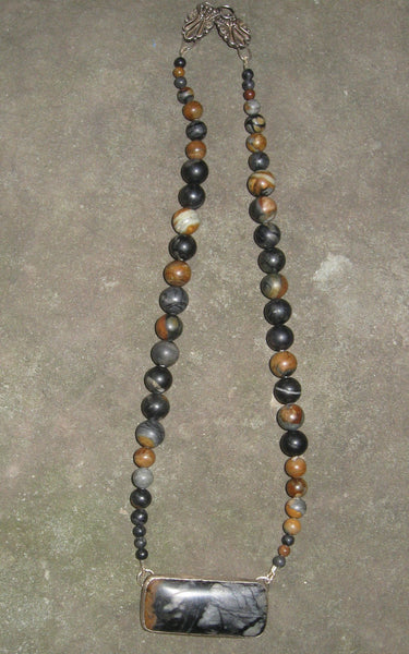 Picasso Jasper Necklace - Of Coins & Crystals