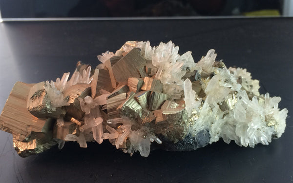 Needle quartz & Pyrite - Peru - Of Coins & Crystals