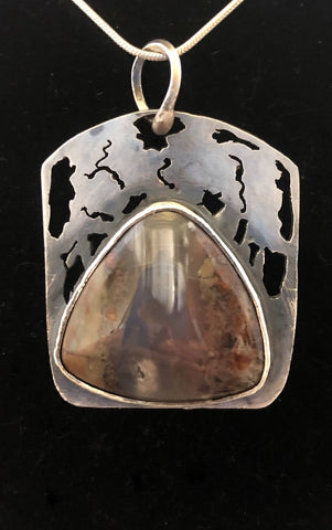 Light in the Woods - Priday Moss Agate in Sterling Silver