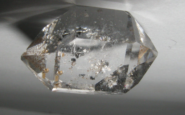 Herkimer Diamond with Anthraxolite + Inclusions - Of Coins & Crystals