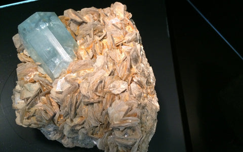 Aquamarine with Muscovite Gilgit, Pakistan - Of Coins & Crystals