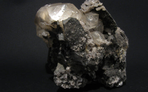 Herkimer Diamond with Calcite, Dolomite, Pyrite - Of Coins & Crystals