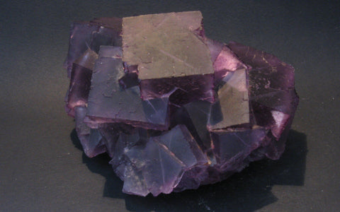 Purple Fluorite with Galena - Illinois - Of Coins & Crystals