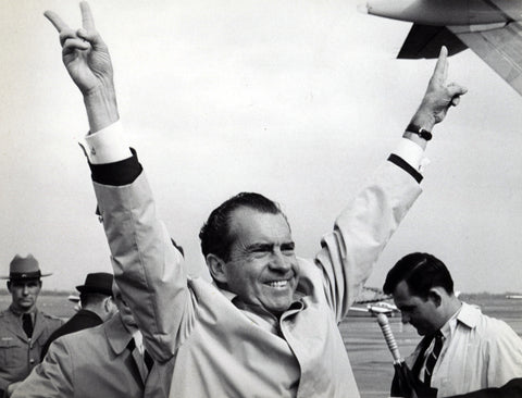 President Nixon arrives in Albany