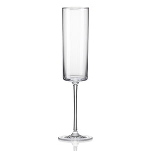 Medium Champagne Flute Glass 5 ¾ oz. by RONA | Table Effect