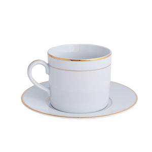 Double Gold Rim Cup & Saucer | Dinnerware Collection