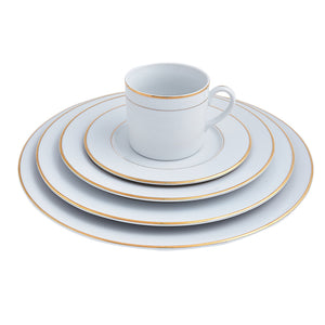 Double Gold Rim Place Setting | Dinnerware Collections