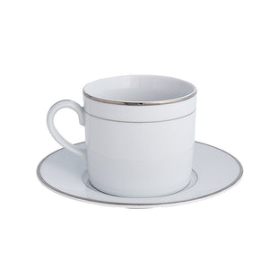 Double Platinum Rim Cup & Saucer | Dinnerware Collection