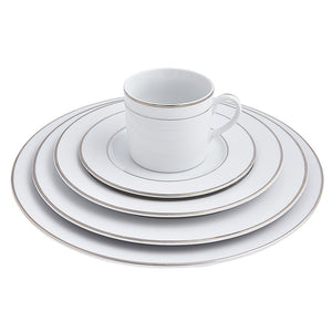 Double Platinum Rim Place Setting | Dinnerware Collections