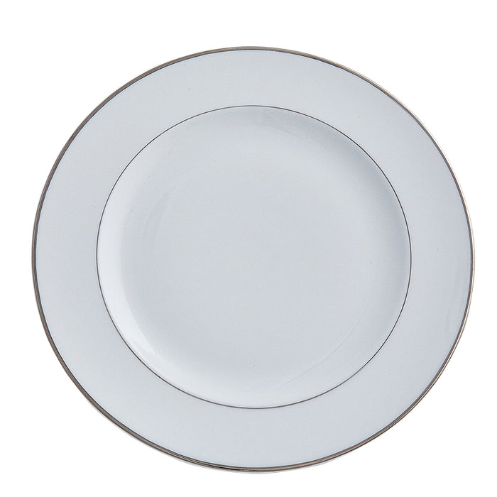 Double Platinum Rim Dinner Plate