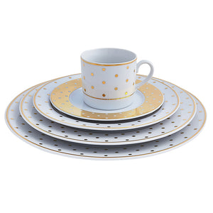 Gold Polka Dot Place Setting | Dinnerware Collections