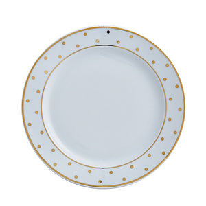 Gold Polka Dot Salad / Dessert Plate  |  Table Effect
