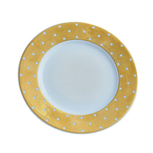Gold Polka Dot Bread & Butter Plate | Set of 6