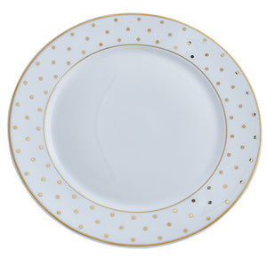 Gold Polka Dot Dinner Plate  |  Set of 6