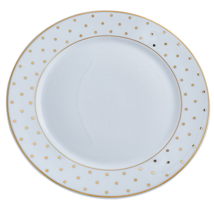 Gold Polka Dot Dinner Plate