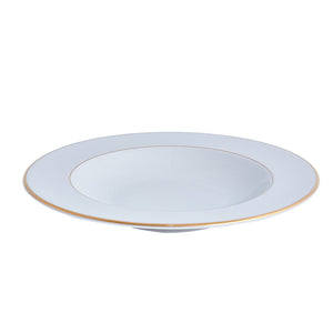Double Gold Rim Soup / Pasta Bowl |  Table Effect