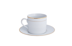 Double Gold Rim Cup & Saucer