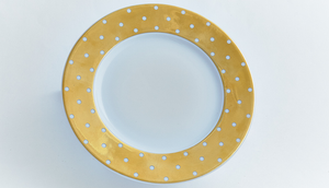 Gold Polka Dot Bread / Butter Plate