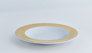 Gold Polka Dot Soup / Pasta Bowl