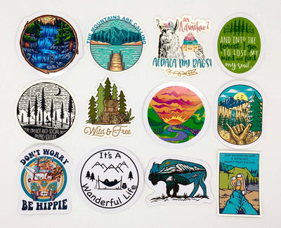 Mega 12 Piece Sticker Pack - It's A Wanderful Life Official Brand Store